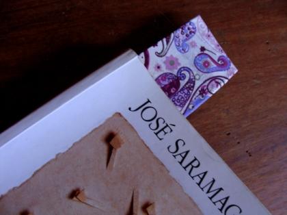 Marcador de Livro encapado com Tecido